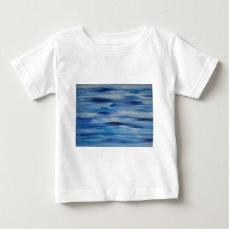 Cielo azul de la colección de las pinturas de playera para bebé