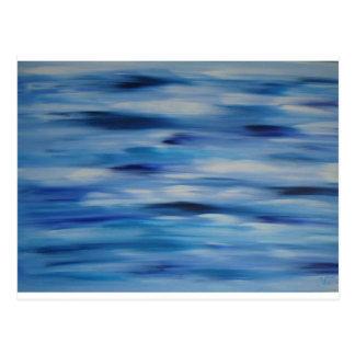Cielo azul de la colección de las pinturas de postal