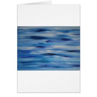 Cielo azul de la colección de las pinturas de tarjeta de felicitación