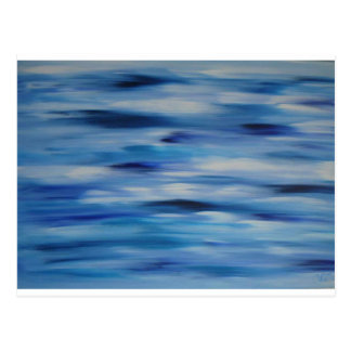 Cielo azul de la colección de las pinturas de tarjeta postal
