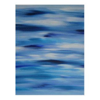 Cielo azul de la colección de las pinturas de tarjetas postales