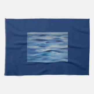 Cielo azul de la colección de las pinturas de toalla de cocina