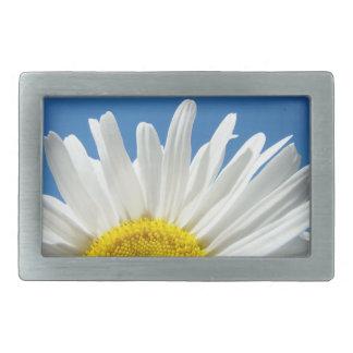 Cielo azul de la flor de la margarita blanca de la hebillas cinturon rectangulares