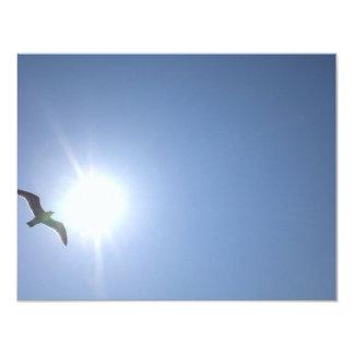 """Cielo azul de la gaviota invitación 4.25"""" x 5.5"""""""