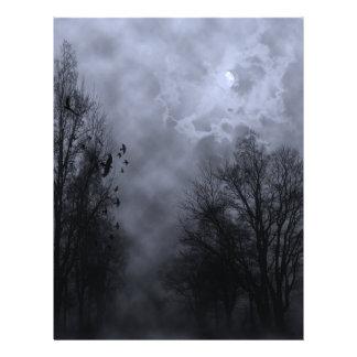 Cielo azul de la niebla de Halloween con el aviado Flyer A Todo Color