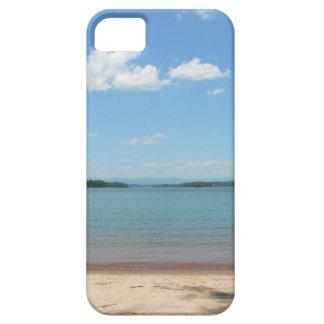 Cielo azul de la playa iPhone 5 carcasas