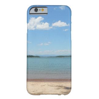 Cielo azul de la playa funda de iPhone 6 slim