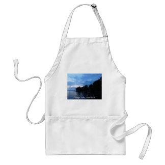 Cielo azul de la puesta del sol del lago Cayuga Delantal