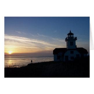 Cielo azul de la puesta del sol del ` s de Pato Tarjeta De Felicitación
