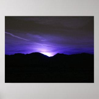 Cielo azul de medianoche poster