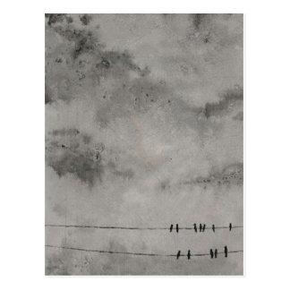 cielo azul del googbye tarjeta postal