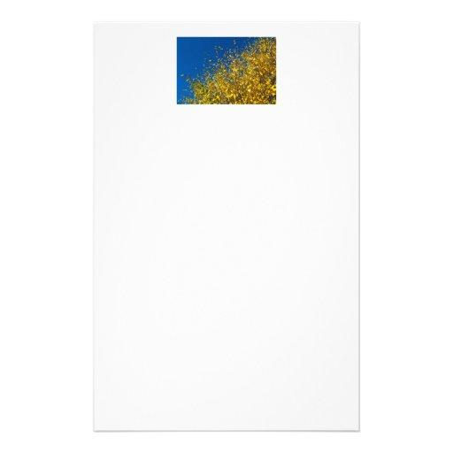 Cielo azul del otoño papeleria personalizada