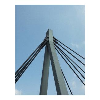 Cielo azul del producto del pilar del puente membretes personalizados
