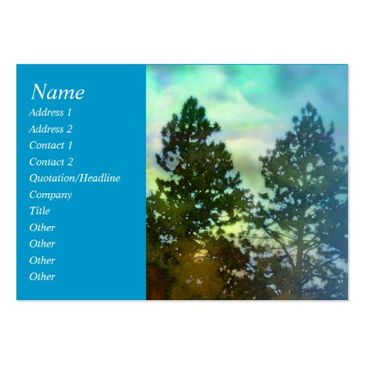 Cielo azul del rezo de la serenidad y tarjeta del tarjetas de visita grandes