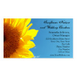 Cielo azul del verano con el girasol amarillo tarjeta de visita