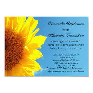Cielo azul del verano, fiesta de compromiso invitación 12,7 x 17,8 cm