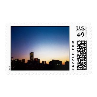 cielo azul del World Trade Center Franqueo