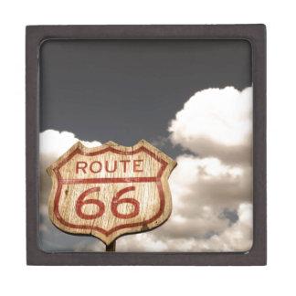 Cielo azul en la ruta 66 caja de joyas de calidad