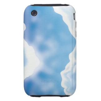 Cielo azul iPhone 3 tough funda
