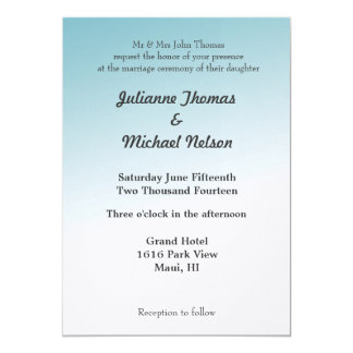Cielo azul invitación 12,7 x 17,8 cm