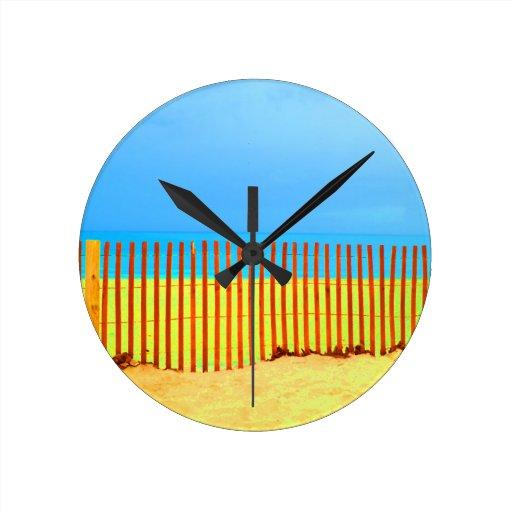 cielo azul la Florida de la cerca de la playa anar Relojes De Pared