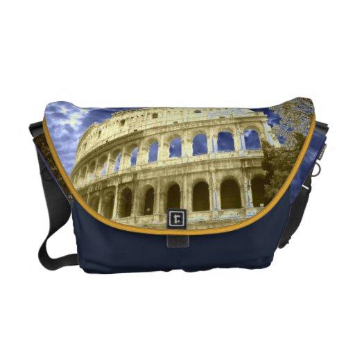 Cielo azul nublado 1 de Roma Colosseum - medio Bolsas De Mensajeria