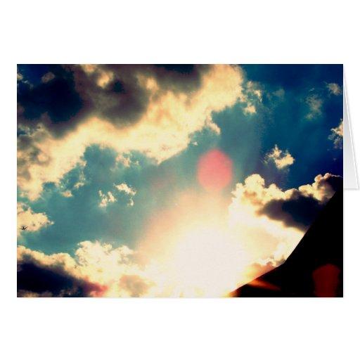 Cielo azul tarjeta de felicitación