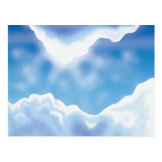 Cielo azul tarjeta postal