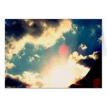 Cielo azul tarjetón