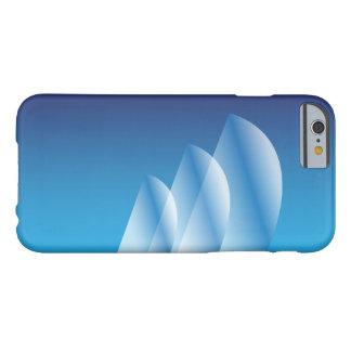 Cielo azul translúcido de la Tri Vela Funda De iPhone 6 Barely There