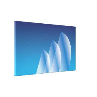 Cielo azul translúcido de la Tri Vela Impresiones De Lienzo
