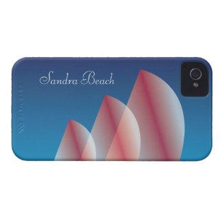 Cielo azul translúcido de la Tri Vela personalizad iPhone 4 Carcasa