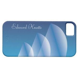 Cielo azul translúcido de la Tri Vela personalizad iPhone 5 Case-Mate Cárcasa