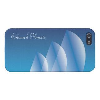 Cielo azul translúcido de la Tri Vela personalizad iPhone 5 Fundas
