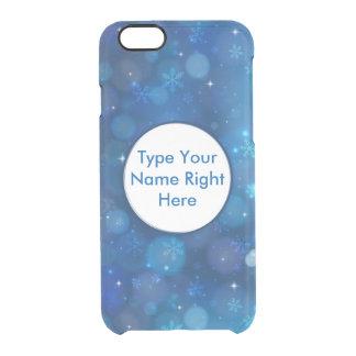 Cielo azul y copo de nieve para el iPhone 6/6s Funda Clearly™ Deflector Para iPhone 6 De Uncommon