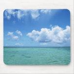 Cielo azul y el mar alfombrilla de ratones