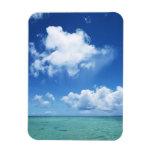 Cielo azul y el mar imanes de vinilo