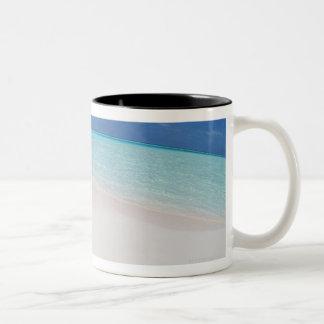 Cielo azul y mar 10 taza de café de dos colores