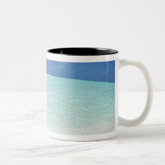 Cielo azul y mar 12 taza dos tonos