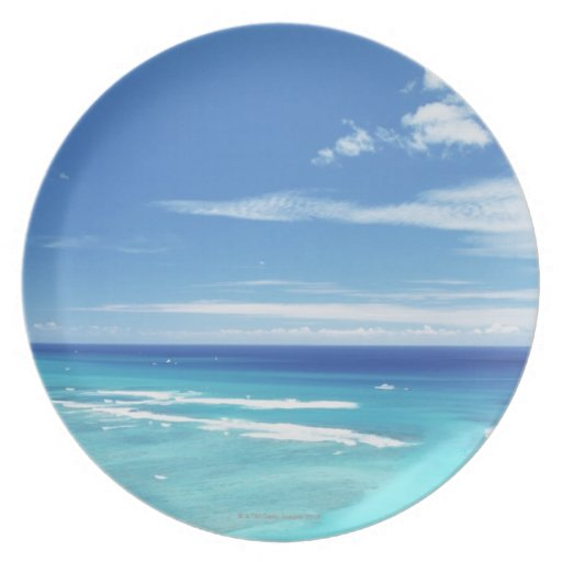 Cielo azul y mar 17 plato de comida