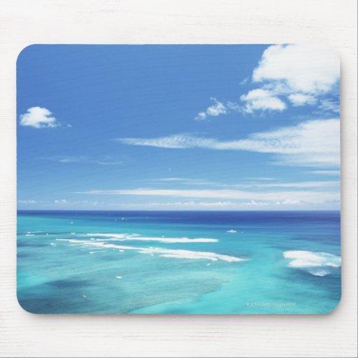 Cielo azul y mar 17 tapetes de ratones