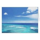 Cielo azul y mar 17 tarjeta