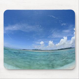Cielo azul y mar 3 tapetes de raton