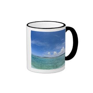 Cielo azul y mar 3 taza a dos colores