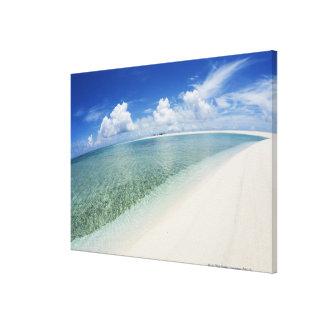 Cielo azul y mar 4 lona envuelta para galerias