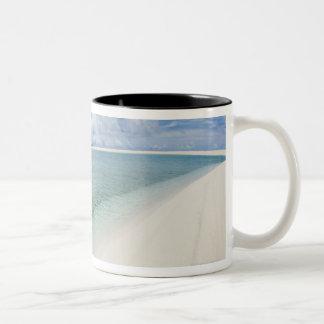 Cielo azul y mar 5 taza de café de dos colores