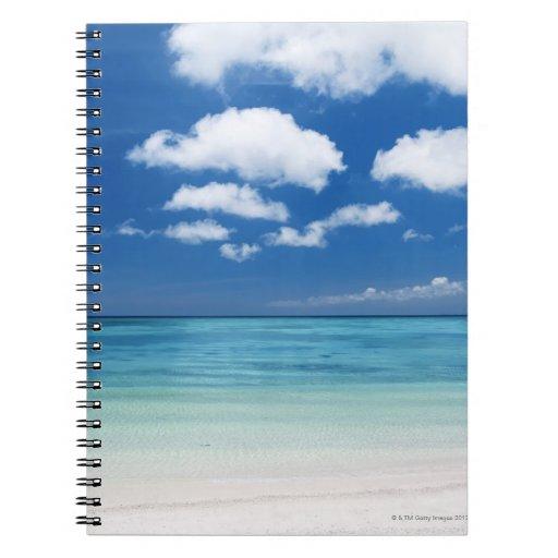 Cielo azul y mar libretas