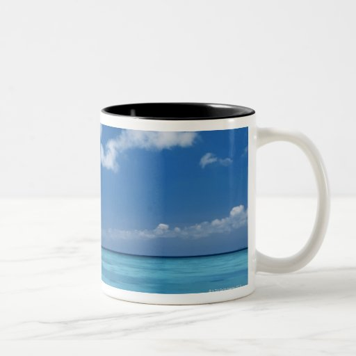 Cielo azul y mar taza dos tonos