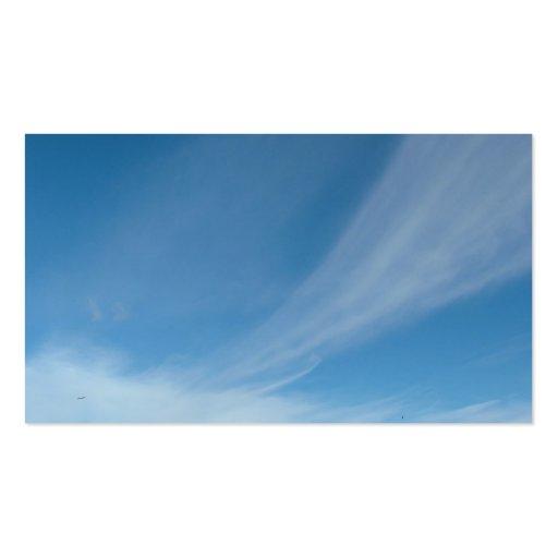 Cielo azul y nubes blancas tarjeta de visita