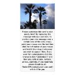 Cielo azul y palmeras tarjeta personal con foto